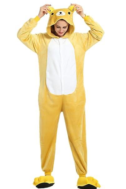 Missley Unisex oso cosplay pijamas adultos pijamas traje de cosplay animales ropa de dormir ropa de