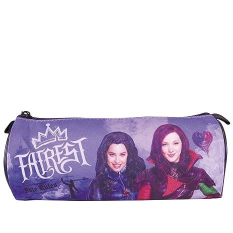 Estuche escolar Niña Disney Los Descendientes - Bolsa para lapices con estampado Evie y Mal - estuche portatodo ...