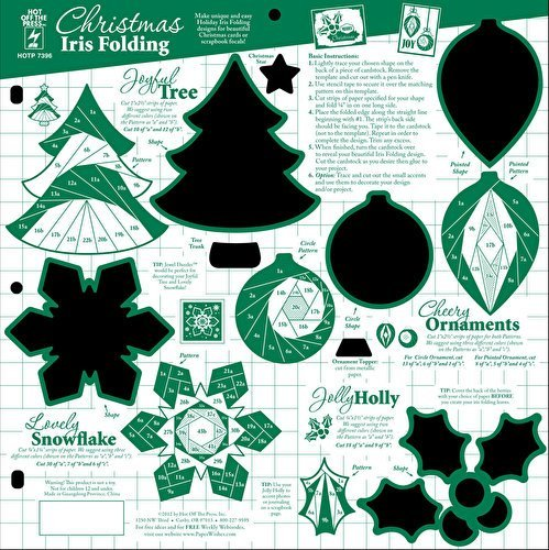 Hot Off The Press - Christmas Iris Folding Template by Hot Off The Press