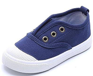WUIWUIYU Garçon Enfant on Slip Toile Fille Bateau Chaussures Mixte xorEQdBWCe