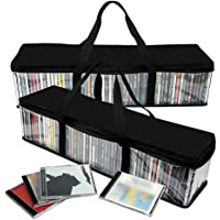Imperius Portable CD Sturdy Storage Collection Bag/Moistureproof with Zipper and Carrying Handles/Easy to Carry/Total 48…