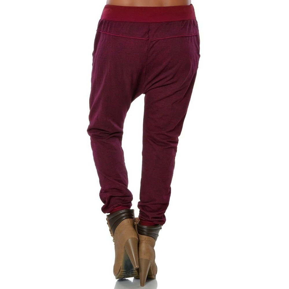 Geetobby Women Pencil Trousers Drawstring Button Casual Hipsters Feet Harem Pant