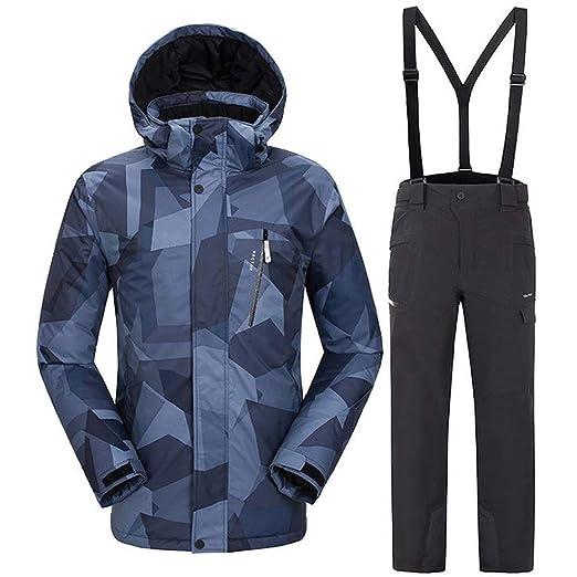 KLGZ Conjunto de Traje de esquí para Hombre, Conjunto de ...