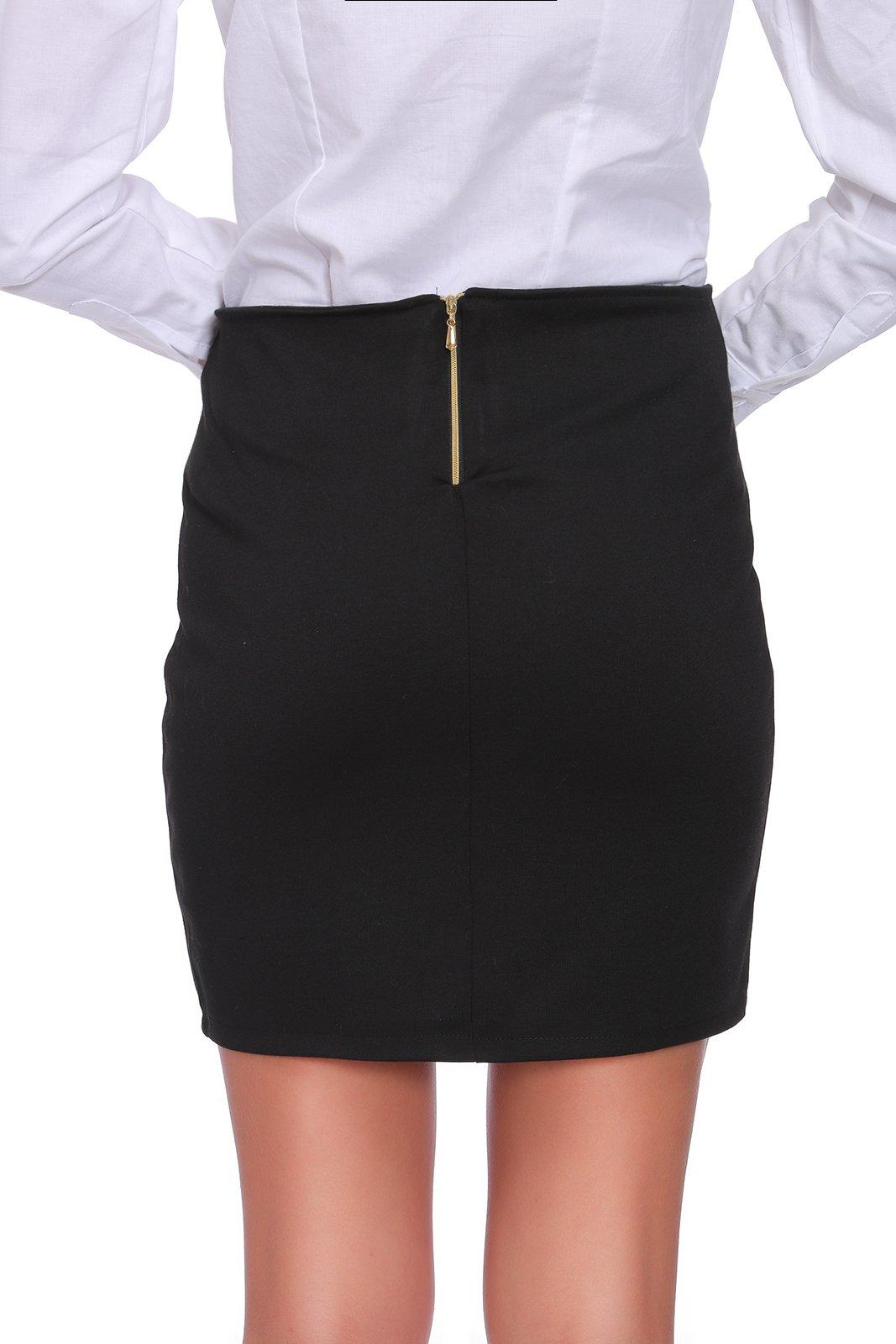Womens Ladies New Short High Waist Turquoise Wrap Over Zip Pencil Skirt UK 8-16