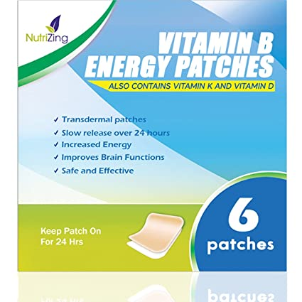 NutriZing Parches de Suplemento Vitamínico B12 – Lo mejor para aumentar la energía y la claridad