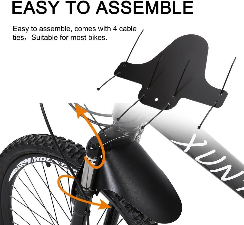 Mountain Bike Bicycle Front Rear Black Tire Mudguards Mud Guard Fender Set GQPTU
