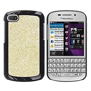 Caucho caso de Shell duro de la cubierta de accesorios de protección BY RAYDREAMMM - BlackBerry Q10 - Glitter Bling Money Rich Sparkly