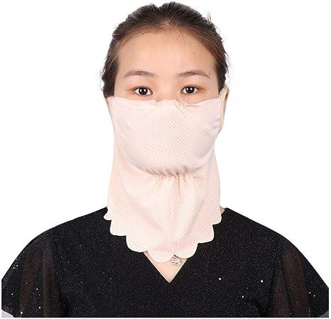Breathable Neck Scarf Earhook Face Masks Washable Chiffon Neck Scarf Hanging Ear Type Face Veil UV Protection Dustproof Neck Gaiter Balaclava Bandana Lonshell
