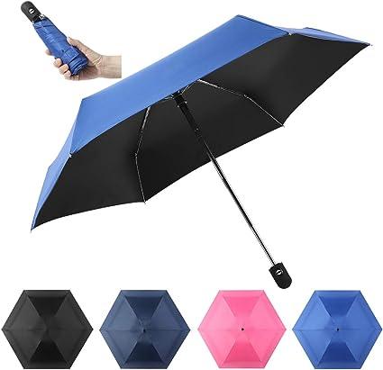 DOENR Compact Travel Umbrella Red Tree Sun and Rain Auto Open Close Umbrellas Lightweight Portable Outdoor Folding Umbrella