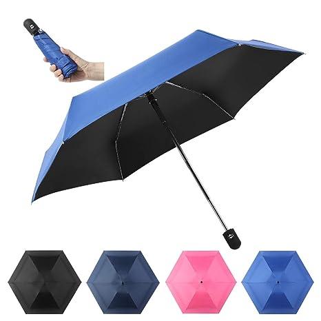 9f8fb3c5b1bb Sunifier Compact Travel Umbrella Mini Automatic Open/Close Umbrella Compact  Lightweight Folding Umbrella Windproof Sun & Rain Umbrellas for Women Men  ...