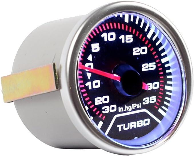 Supmico 52mm Weiß Led Licht Kfz Auto Universal Psi Turbo Schub Anzeige Instrument Gauge Rauchfarbe Len Messgerät Auto