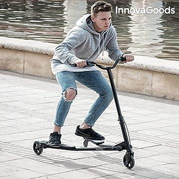 InnovaGoods IG115991 Patinete Plegable de 3 Ruedas, Unisex Adulto, Negro, Talla Única: Amazon.es: Deportes y aire libre