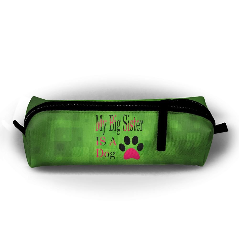 HTSS My Sister Is A Dog 11.PNG Pencil-box Pouch Pencil Holders Pencil Pen Casewith Zipper Stationery Bag Sewing Kit