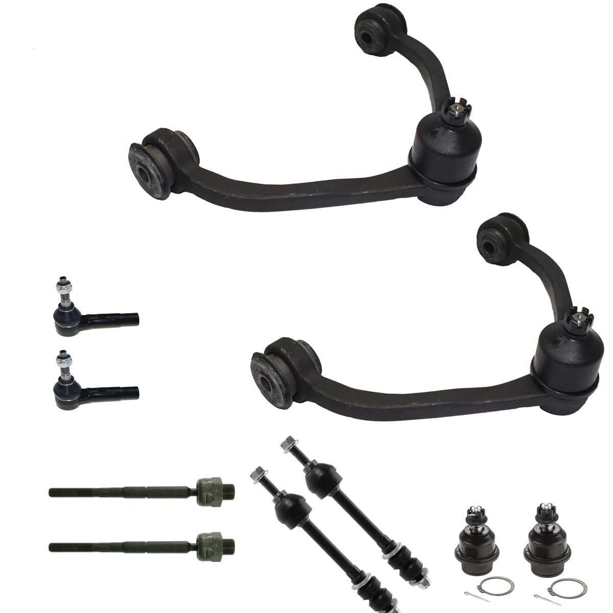 Detroit Axle - New 10 Piece Complete Upper Control Arm Suspension Kit For Dodge Dakota and Mitsubishi Raider
