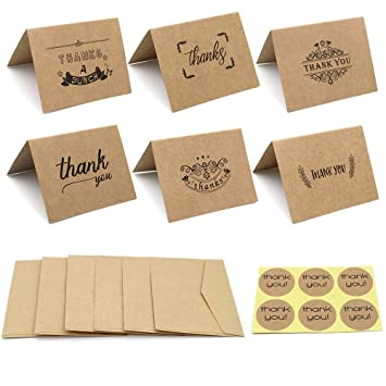 24 Note Cards Mill in the Woods Kraft Envelopes Included Blank Cards
