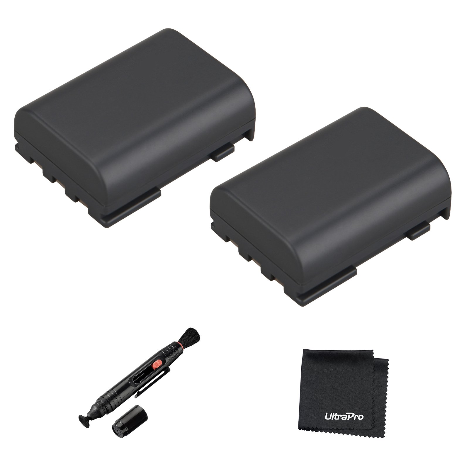 UltraPro 2-Pack NB-2LH High-Capacity Replacement Battery for Canon EOS 350D 400D Rebel XT Digital Rebel Xti - UltraPro BONUS INCLUDED: Deluxe MicroFiber Cleaning Cloth, Lens Cleaning Pen by UltraPro