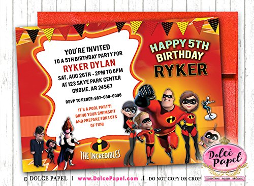 Amazon 10 The Incredibles Birthday Party Invitations ANY AGE