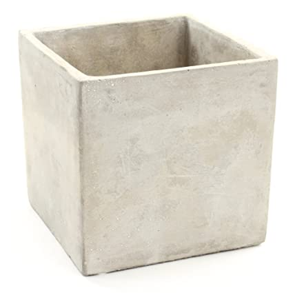 Amazon Koyal Wholesale Concrete Effect 5 Inch Cube Vase Planter