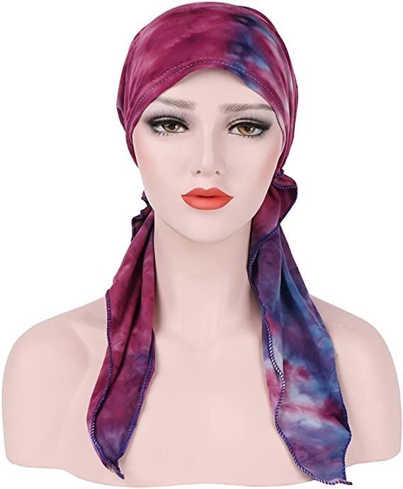 Jaminy Femme Musulmane Cancer Chimio Bonnet Turban Foulard Wrap Cap