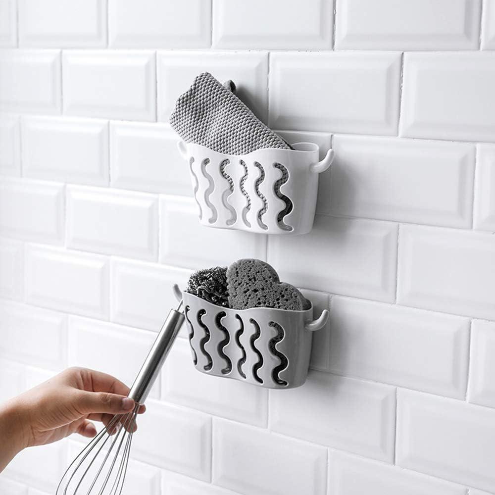 Esponja para fregadero cocina hecha de pl/ástico con ventosas fuertes sin taladro beige jab/ón ventosa organizador de ducha soporte para ba/ño fregadero sin perforaci/ón