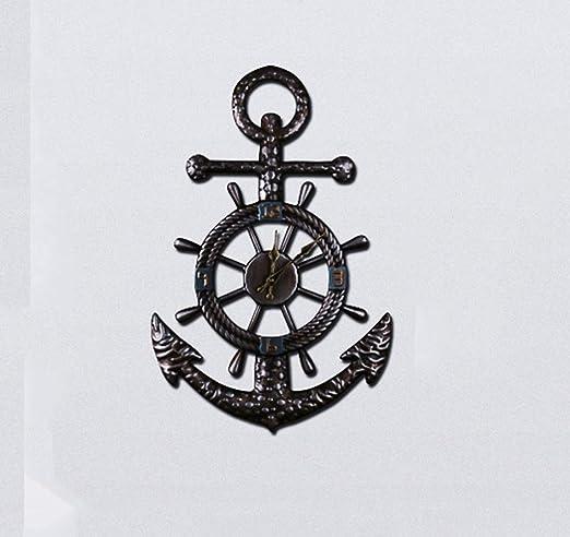 Lonve Metal Pesado Estilo Industrial Reloj De Pared, Retro Simple ...