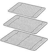 Luvan 100% 304(18/10) Stainless Steel Roasting amp; Cooling Rack,Fits Pan,Oven Safe amp; Rust-Proof Fit...