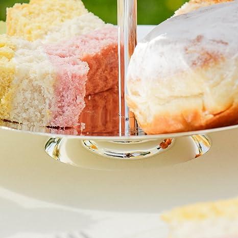 Impresionante brillante bañado en plata soporte para tartas de dos pisos. Perfecto para la celebración de magdalenas, muffins y pasteles de la Navidad de.