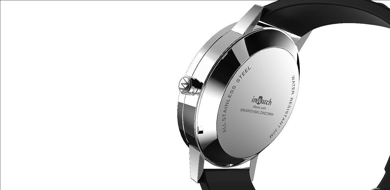 inWatch Fusion Negro Reloj con cristales de swarovski Smart ...