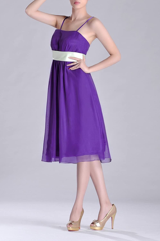 f7bd493aafc5 Adorona Chiffon A-line Strapless Tea Length Bridesmaid Dresses: Amazon.co.uk:  Clothing