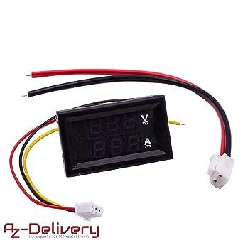 AZDelivery Voltimetro Amperimetro Módulo DSN-VC288 con pantalla ...
