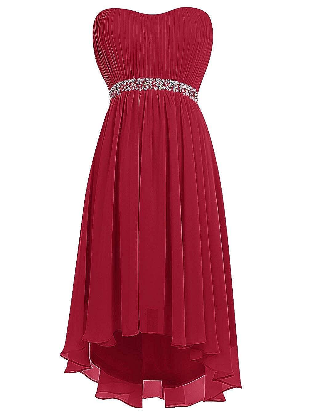 Womens Chiffon Bridesmaid Dress Short Homecoming Prom Dresses