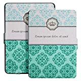 Ayotu Colorful Case for Kindle Paperwhite E-reader Auto Wake/Sleep Smart Protective Cover Case,Fits All 2012, 2013, 2015 and 2016 Versions Kindle Paperwhite 300 PPI,K5-04 The Crown Pattern