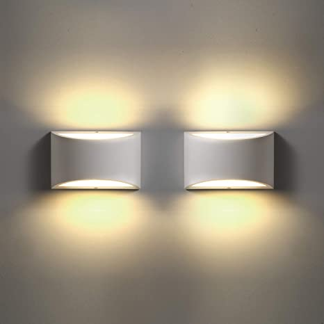 LED Wall Sconces Set of 2, Sconce Wall Lighting 9W 3000K Warm White Modern  Wall Light for Stairway Bedroom Hallway Bathroom Porch Living Room Hotel (2  ...