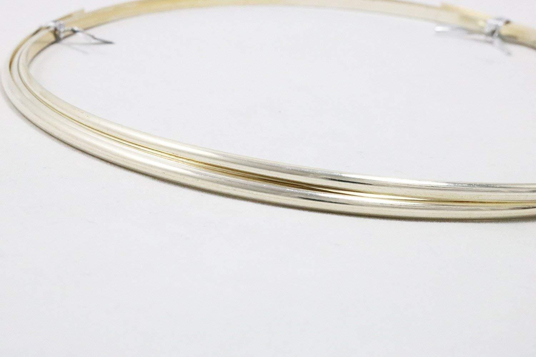 5FT 12 Gauge Half Round Dead Soft .925 Sterling Silver Wire