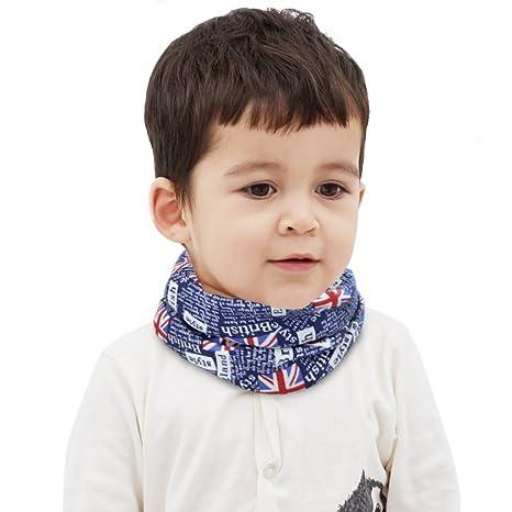 Écharpe Tube Enfant Hiver Style de Drapeau Anglais Écharpe Enfant en Coton  Tour de Cou Enfant eb635022dcc
