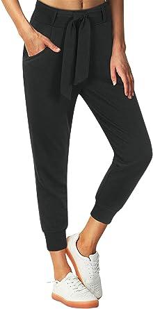 Women Capri Elastic Waist Trousers Tracksuit Bottoms Cropped Pants Lounge Wear