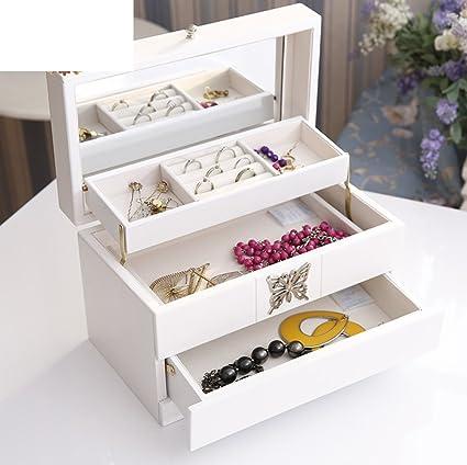 caja de joyería de madera/ caja de almacenamiento de información simple y de moda/