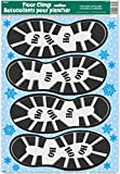 Santa's Footprints Christmas Floor Clings