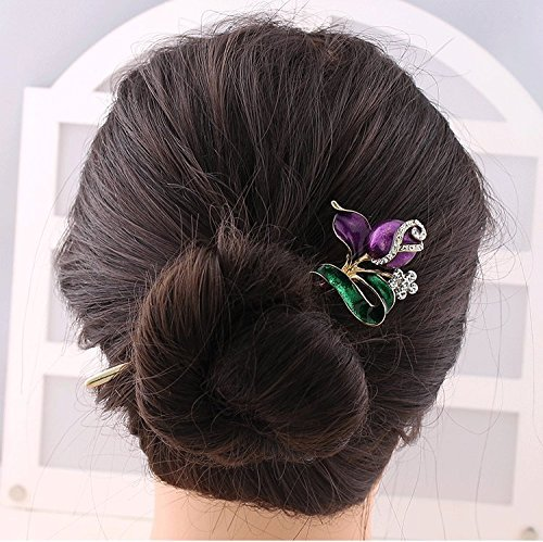 Price comparison product image 1Piece Fashion Hair Decor Chinese Traditional Style For Women & girls Flower Design Fahion Hair pin,Chopsticks,Hair accessory ,Wedding Hair Fashion Jewelry by Xiaomi Mi