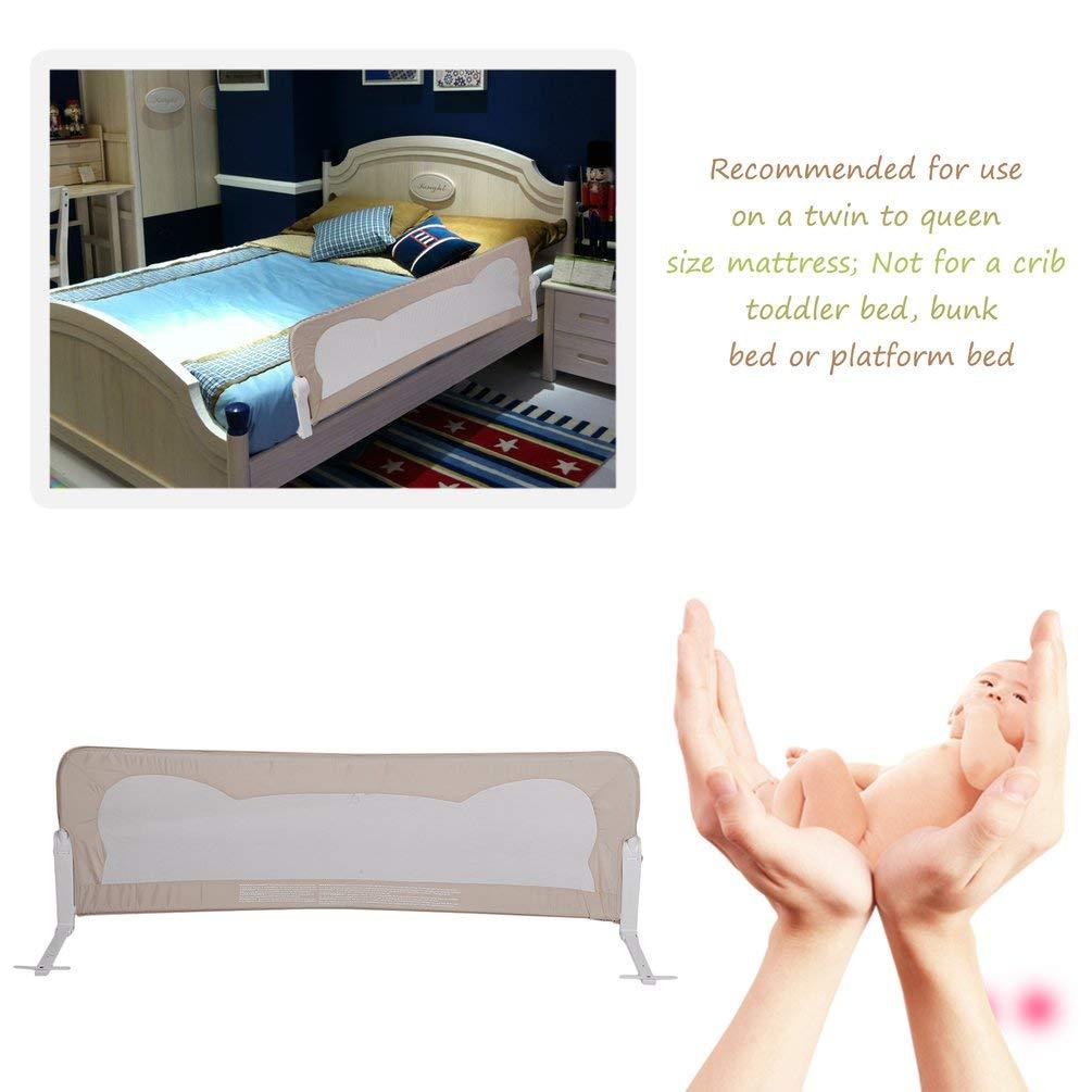 Kaki Grille de lit pour enfant 102 cm 120 cm 150 cm 180 cm