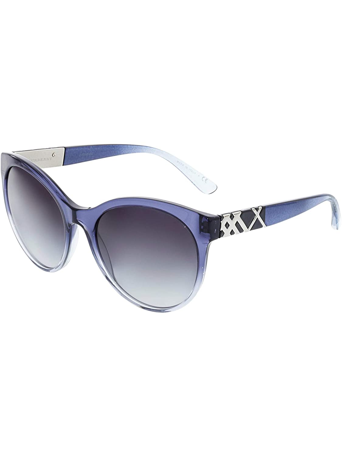 0389cb5f5e32 Burberry Women's BE4236 Sunglasses Blue Gradient/Grey Gradient 56mm at  Amazon Women's Clothing store: