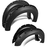 Replacement for 09-14 Ford F150 Smooth Pocket-Riveted Style Side Wheel Fender Flares (Black)