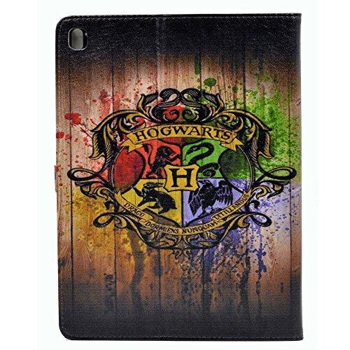 iPad Pro Case Hogwarts Watercolor Art Pattern Leather Case S