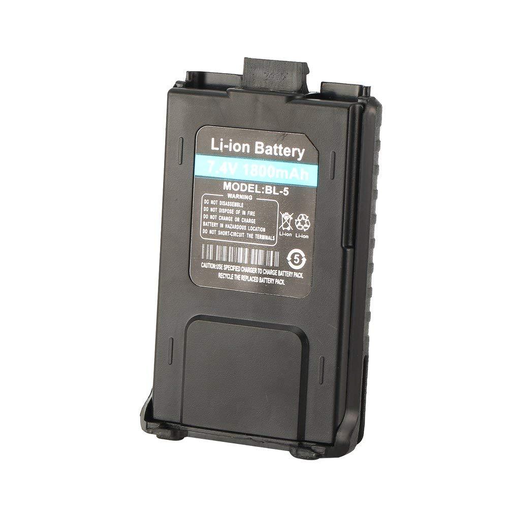 Bater/ía de iones de litio Leoboone 1800mAh para radio Walkie Talkie Baofeng UV-5R UV-5RE