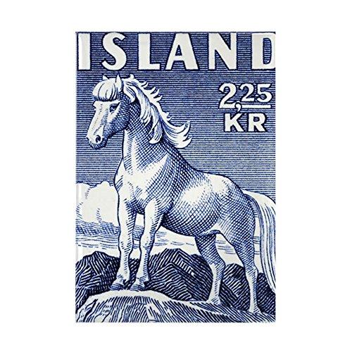 CafePress - Iceland 1958 Icelandic Horse Post - Rectangle Magnet, 2