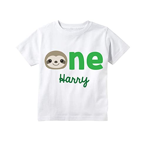Kids Happy Family Clothing Birthday Party Sloth Kids T-shirt