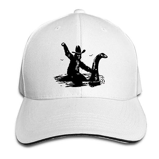 5566e26c95c Adult Adjustable Baseball Cap Riding On Nessie Classic Polo Style Baseball  Cap at Amazon Men s Clothing store