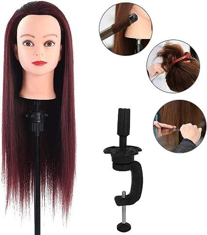 Maniquí de práctica de peluquería, cabello Marrón oscuro, 60 ...