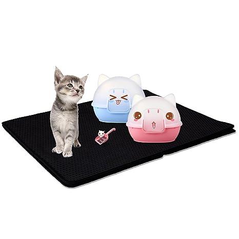 Petacc Alfombra para Alimentos para Gatos Impermeable Tapetes para Comer para Mascotas Lavable en Espuma de