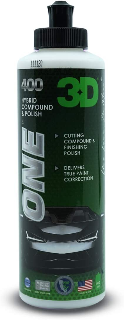 Amazon.com: 3D One - Professional Cutting, Polishing, and Finishing Compound for Paint Correction, Auto Detailing and Buffing (8 oz.): Automotive